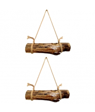 FLOWER-POT STAND OF OAK WITH ROPE
