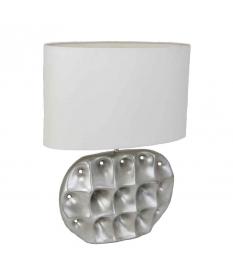 LAMP MENORCA CER/SILVER