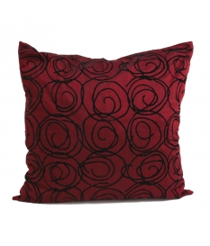 CUSHION BURGUNDY