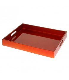 TRAY POLY/ORANGE 32X42 CM