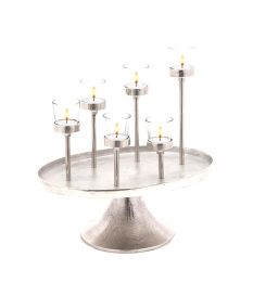 METALLIC CANDLE HOLDER TRAY
