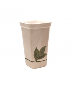 FLOWER POT CERAMIC DECO LEAVES