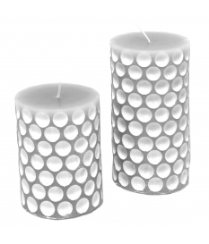 CANDLE WAX/DESIGN SILVER