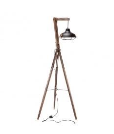 LAMP SATURNO WOOD / BLACK