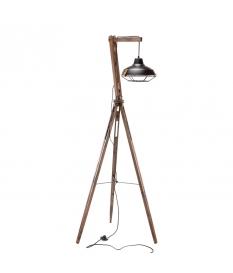 LAMPARA SATURNO MADERA/NEGRO